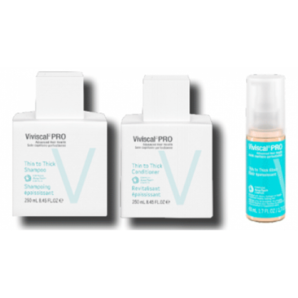 VIVISCAL PRO THIN TO THICK SHAMPOO, CONDITIONER & ELIXER TRIO